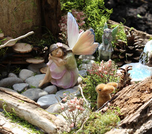 Fairies at one of the gardens